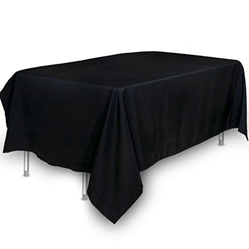 Tablecloth 60 X 102 Inch Black Tablecloth 100 Present Pol Https Www Amazon Com Dp B01c4tcoo4 Ref Cm Sw R Black Tablecloth Kitchen Tablecloths Table Cloth