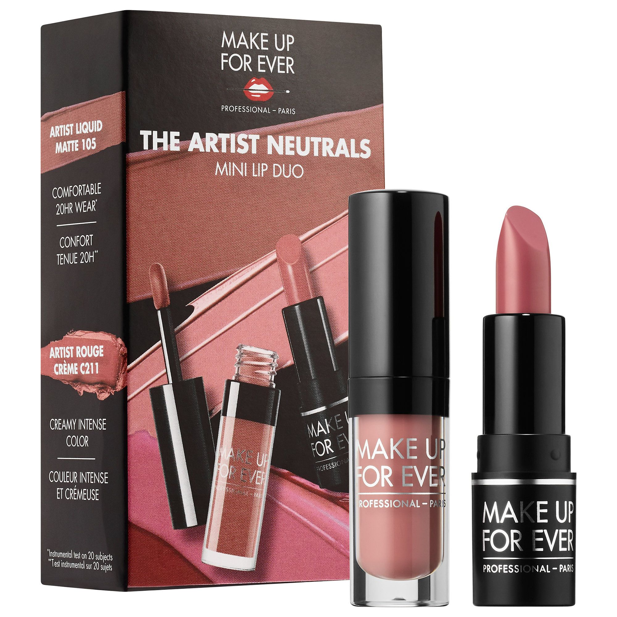 The Artist Neutrals Mini Lip Duo MAKE UP FOR EVER