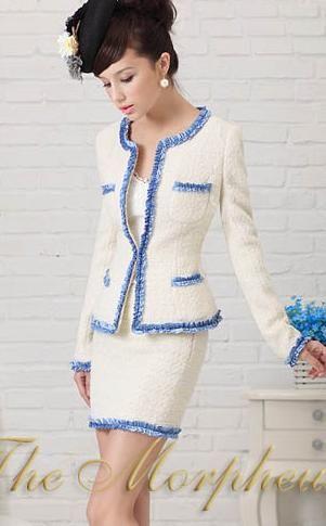 Morpheus Boutique  - White Lady Shoulder Long Sleeve Ruffle Hemline Suit Jacket, $59.99 (http://www.morpheusboutique.com/white-lady-shoulder-long-sleeve-ruffle-hemline-suit-jacket/)