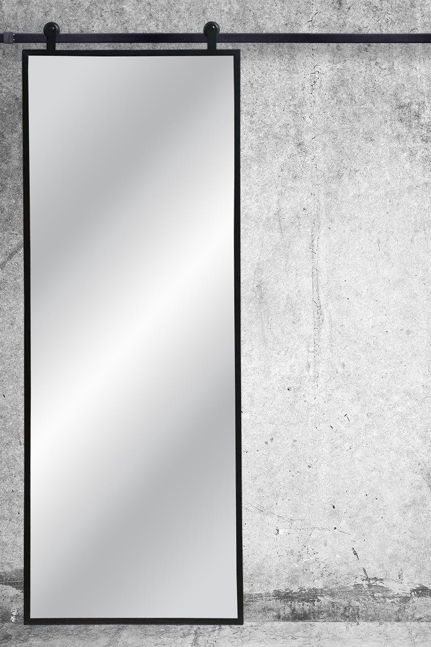 Drzwi Przesuwne Metalowe Model Lara Lustro W Stalowej Ramie Reno