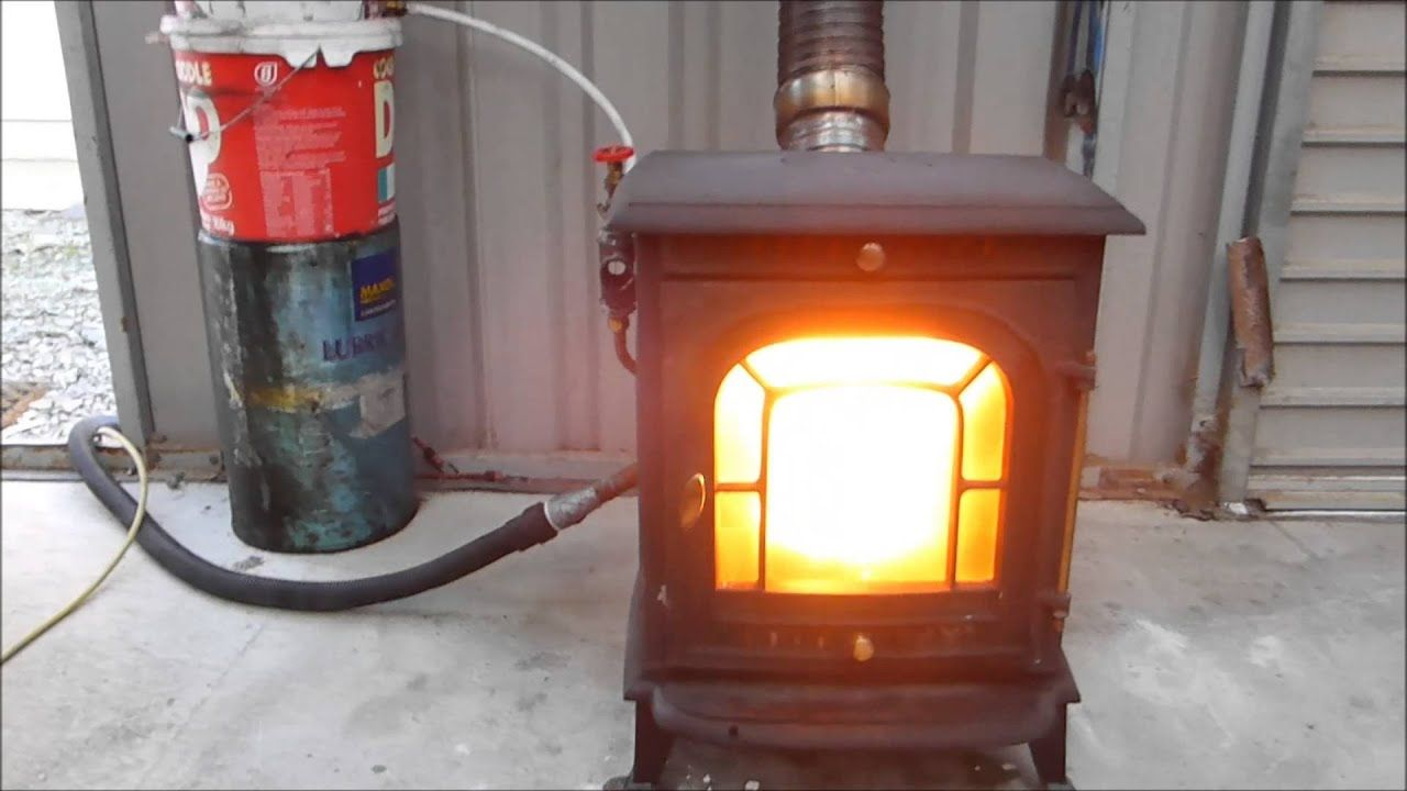 Amazing And Easy Convert Your Stove To Burn Waste Oil Youtube Waste Oil Burner Oil Stove Oil Heater
