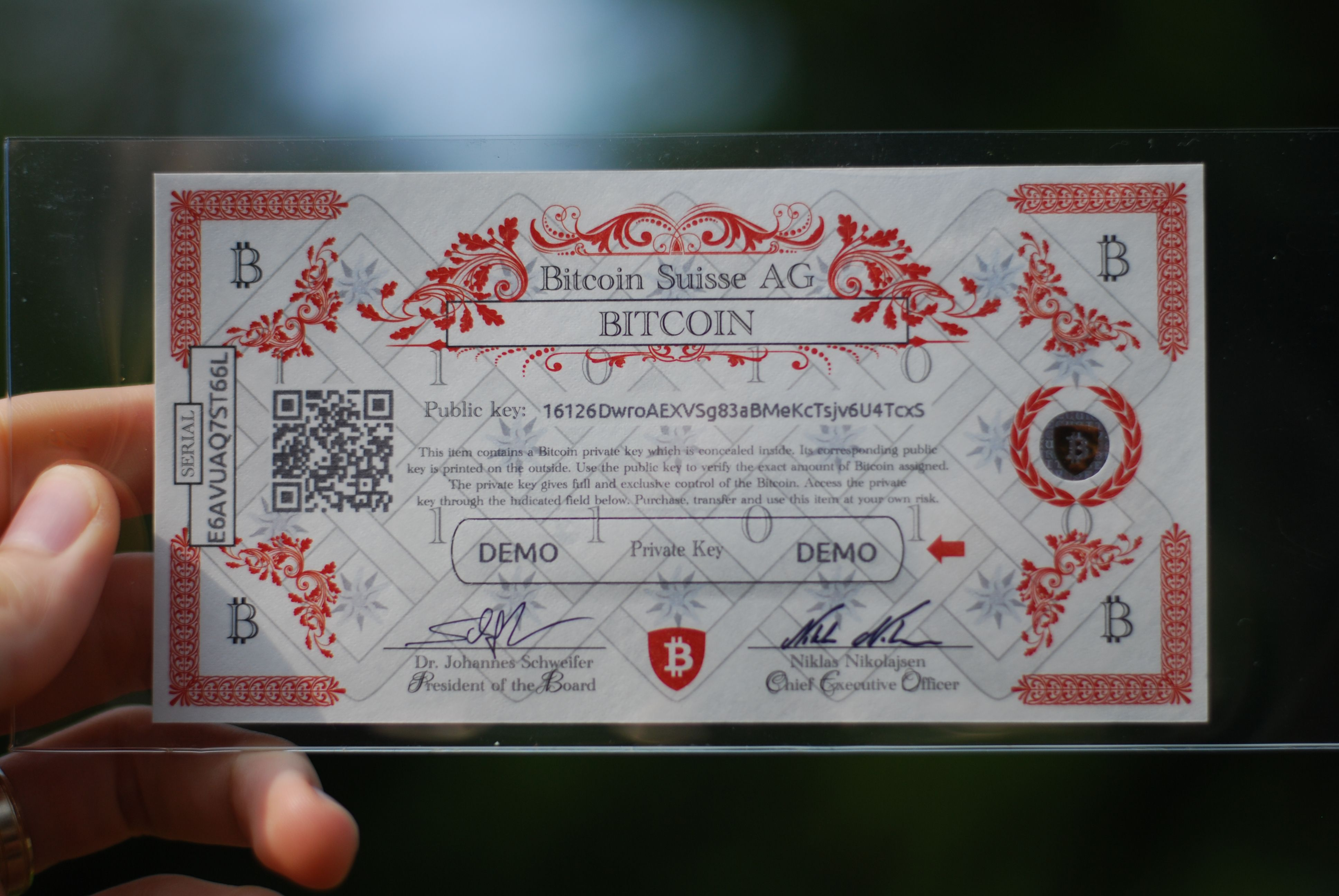 swiss cryptocurrency wallet