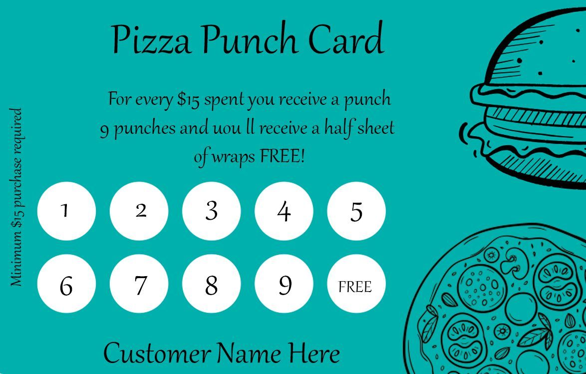 50 Punch Card Templates For Every Business Boost Customer Loyalty Template Sumo Punch Cards Card Templates Free Card Templates