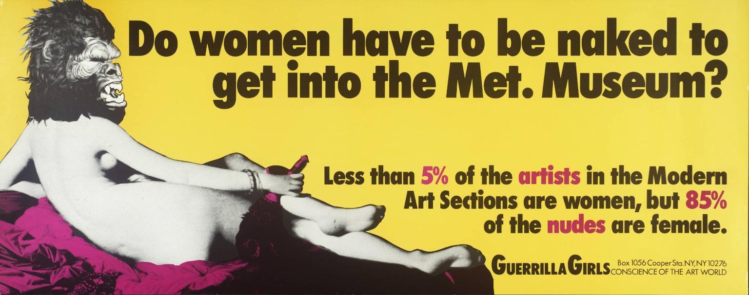 The New Tate Modern More Space Seats And Women Art History Guerrilla Girls Guerrilla Feminist Art
