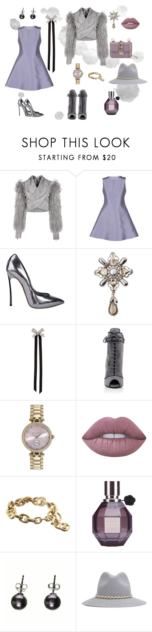 """set 4"" by natucsya on Polyvore featuring мода, Balmain, RED Valentino, Casadei, Oscar de la Renta, Lanvin, Prada, Ted Baker, Lime Crime и Michael Kors"