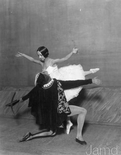 Russian ballet dancers: Olga Spasivtzeva & Serge Lifar