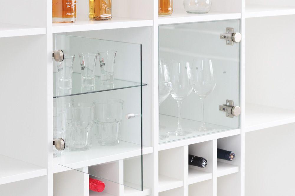 Facheinsatz Als Glasvitrine Fur Ikea Regal Expedit Ideal Fur Kleine Und Grosse Glaser Bzw Weinglaser Expedit Ikea Kallax Regal Regal Expedit Regal