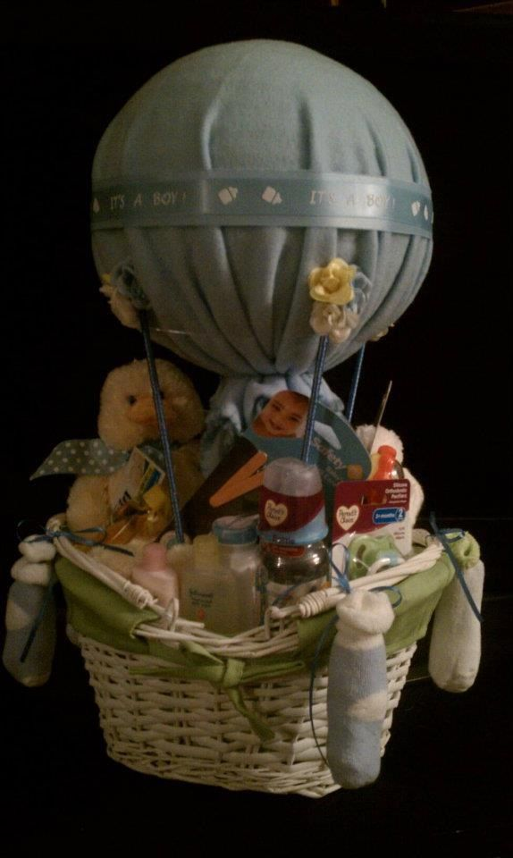 Hot Air Balloon Gift Basket Sold Diaper Cakes By