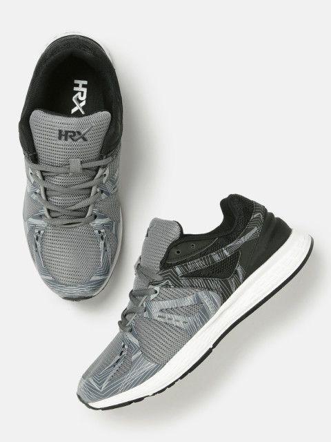 ec454fa0bba Buy HRX By Hrithik Roshan Men Grey   Black Running Shoes - Sports Shoes for  Men 1855382