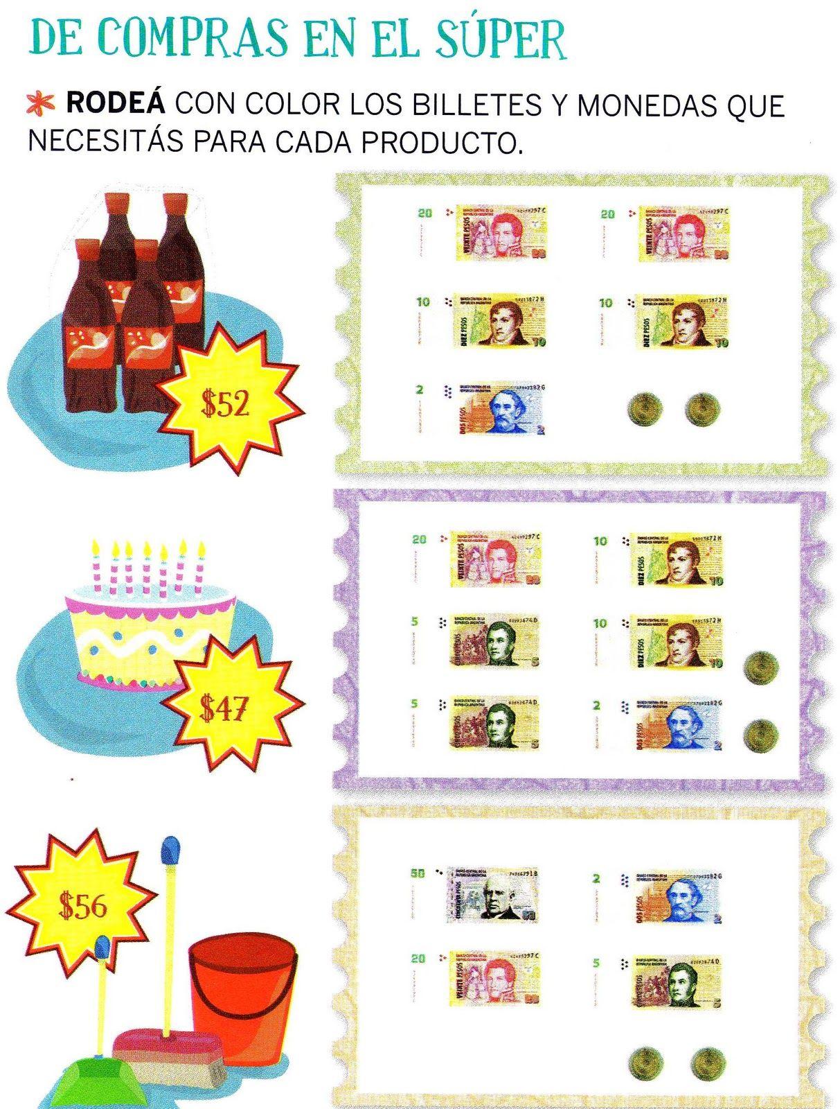 Aula Se O Sory Actividades Con Billetes Y Monedas Math Pinterest