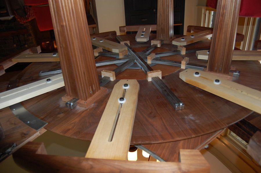 Woodworking Plans Round Expandable Kitchen Table