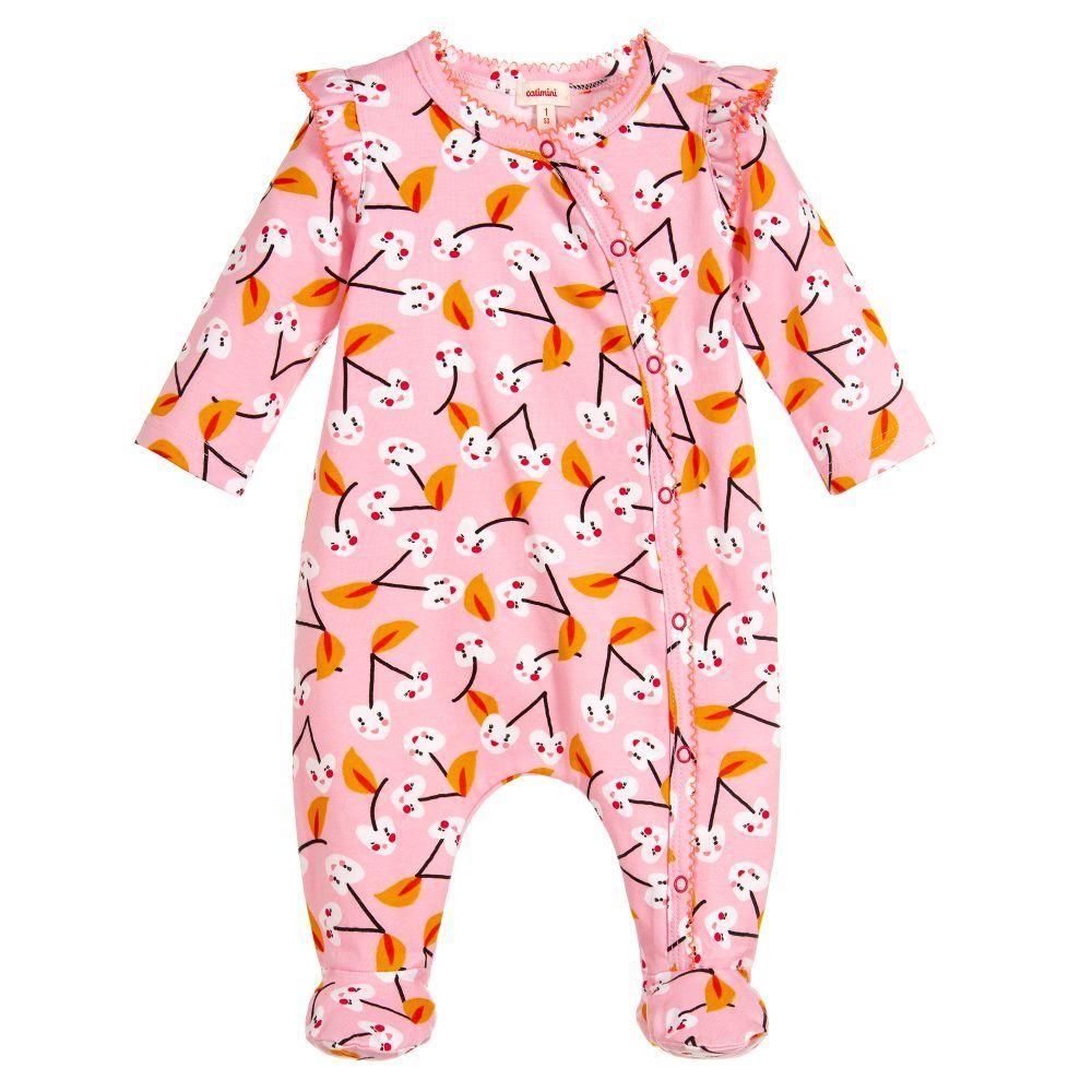 8bde211b821c Girls pink babygrow from Catimini