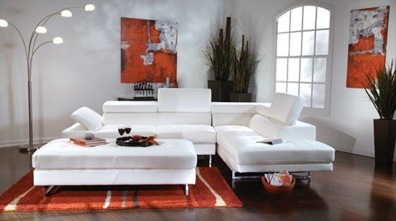 Beau This Vita 3 Piece Bonded Leather Living Room Set Is A Modern Two Piece  Sectional With Unique Triple Ratchet Back Design. Pocketed Coil Tufted  Seating.
