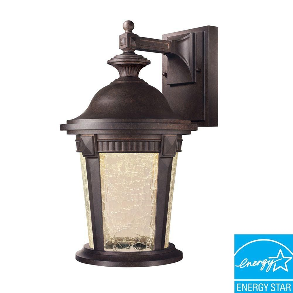 Outdoor Led Light Captivating Hampton Bay Basilica Collection Mystic Bronze Outdoor Led Wall