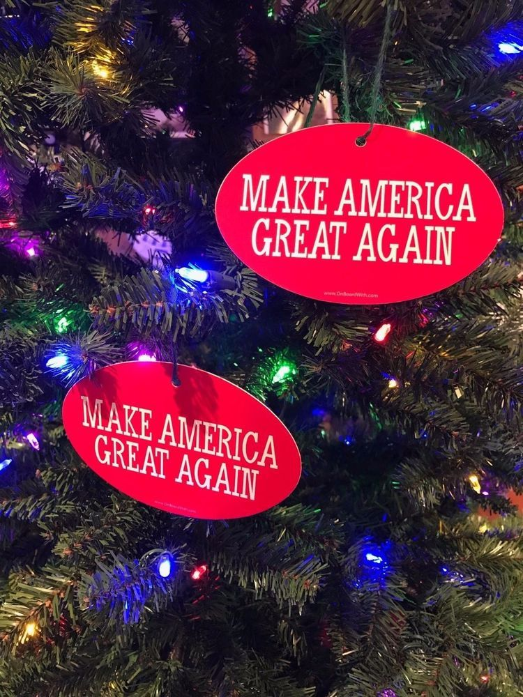 complete your patriotic christmas tree with quantity 2 make america great again christmas ornaments president
