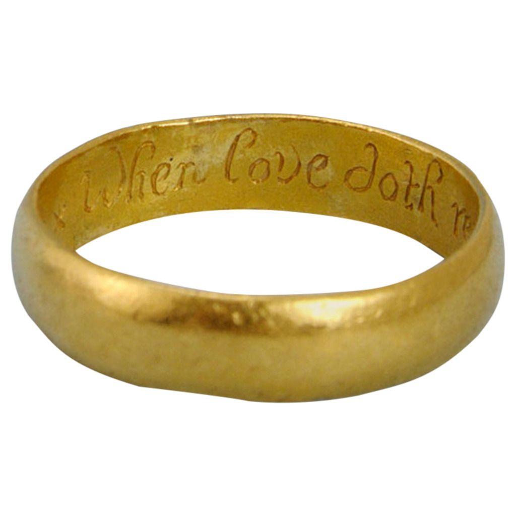"17th Century Gold ""Posy"" Ring 1"
