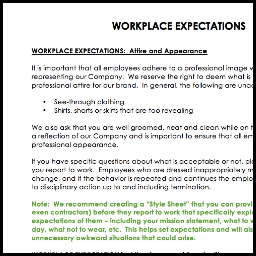 Employee Handbook Template  Now Available  Career And Life Tips