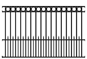 Sonoma Wrought Iron Fence Panel 4 Rail Sonoma Deluxe Fence Panel Sonoma Wrought Iron Railings Wrought Iron Fence Panels Iron Fence Panels Wrought Iron Fences