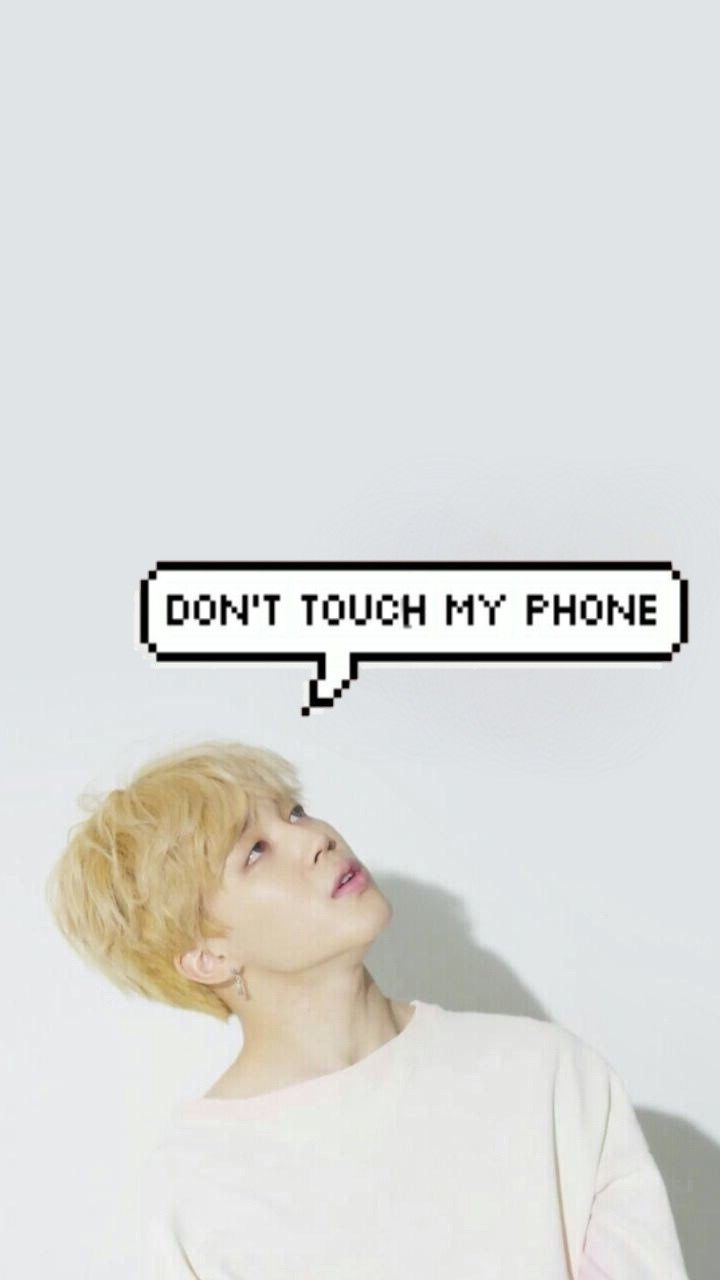 Jimin Park Don T Touch My Phone Dont Touch My Phone Wallpapers Bts Wallpaper Jimin Wallpaper