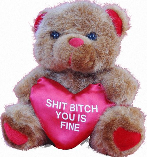 Stuffed Bear: Shit Bitch, You Is Fine