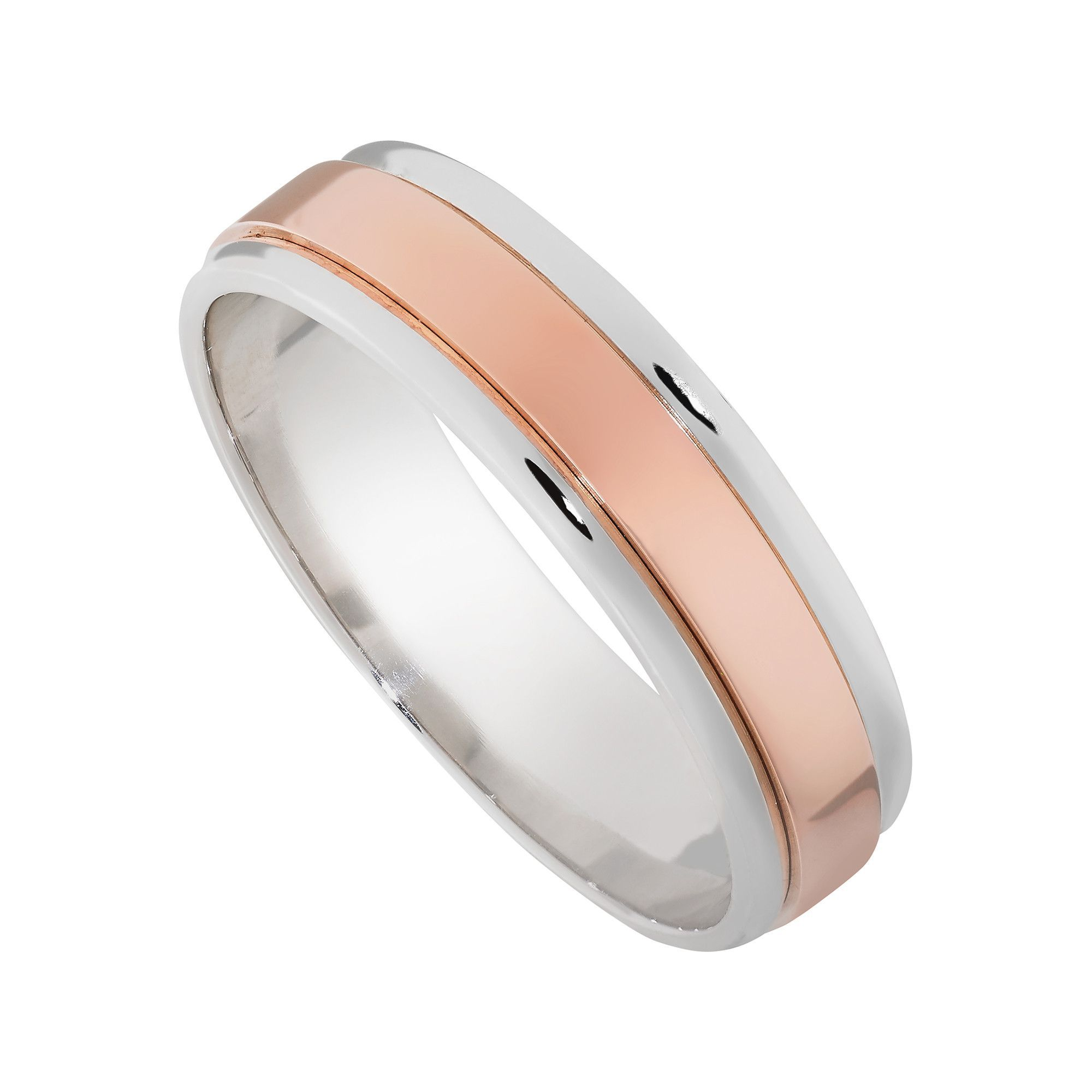 6mm mens wedding band white gold