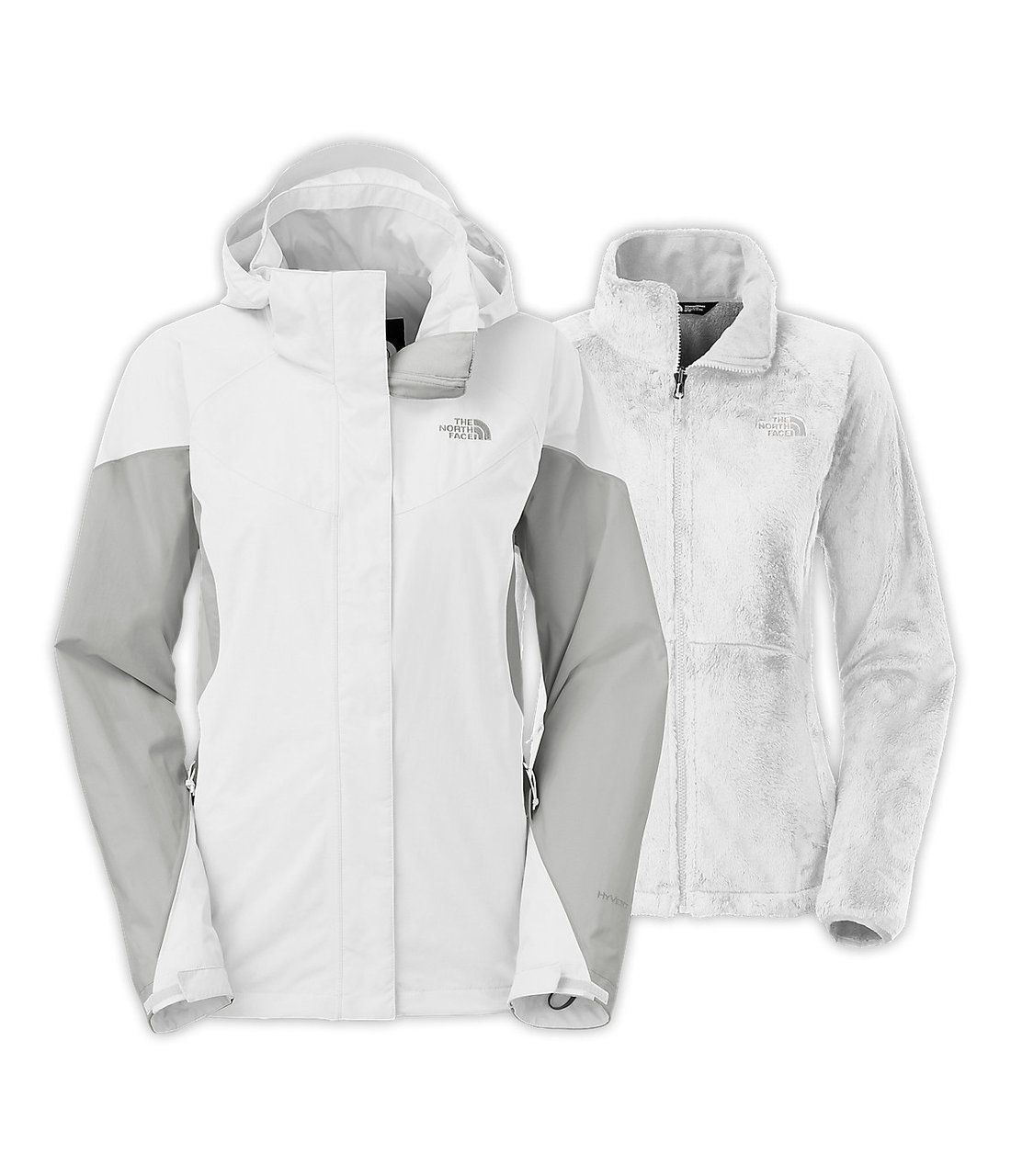 d6dba9481 North Face Women's Boundary Triclimate Jacket in TNF White/High Rise ...