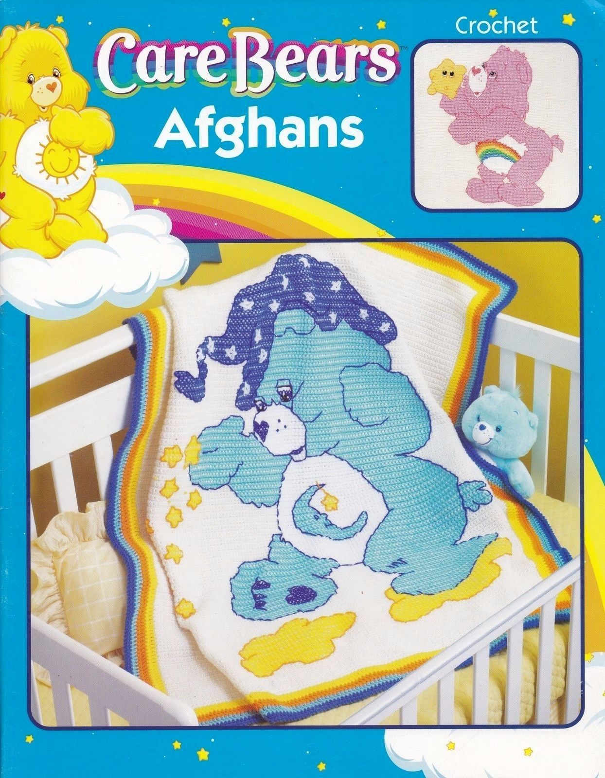 Care Bears Afghans Leisure Arts Crochet Pattern Book 3789 Share Wish ...