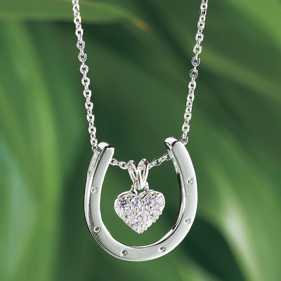 sterling in horseshoe pendant themed gifts