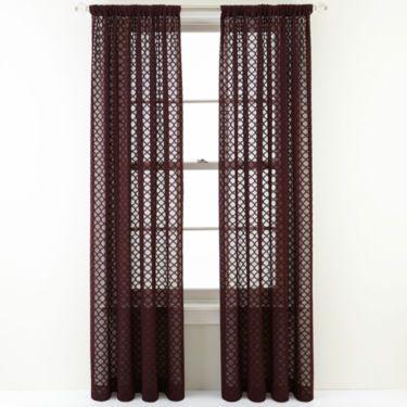 Royal Velvet Stanza Rod Pocket Sheer Panel Sheer Panels
