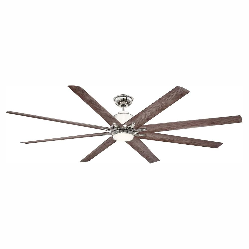Home Decorators Collection Kensgrove 72 In Led Indoor Outdoor Ceiling Fan With Remote Ceiling Fan White Ceiling Fan