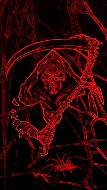 Download 360x640 «little reaper» Cell Phone Wallpaper
