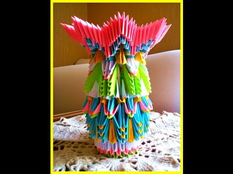 How To Make 3d Origami Vasetutorial