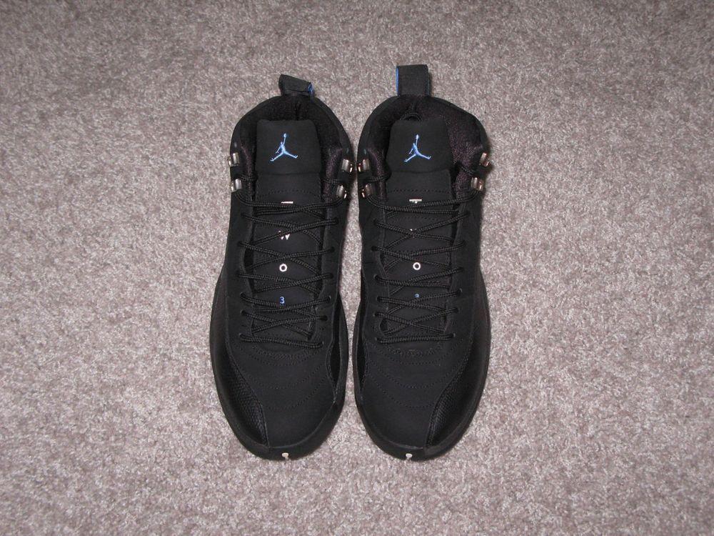 timeless design 9d974 4934a 2003 Air Jordan XII 12 Retro Nubuck Black Blue Size 10 Melo Playoff
