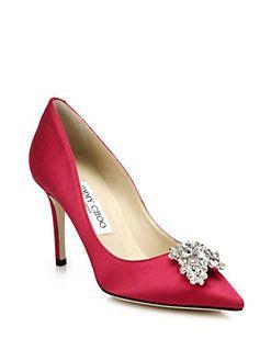 72a3de553c Jimmy Choo - Mamey Satin Crystal Point-Toe Pumps | prettiest shoes ...