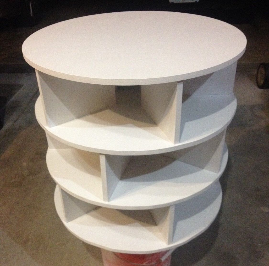 DIY Project Lazy Susan Shoe Storage Organizer 3Tier by