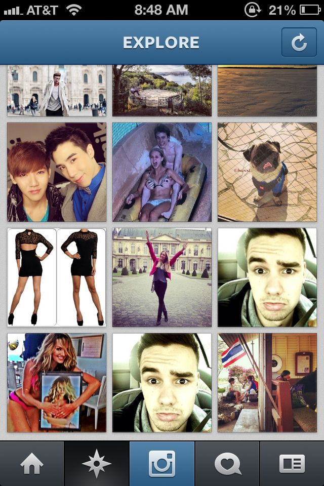 Liam made the popular page on Instagram twice!