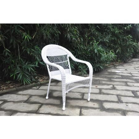 Marvelous Mainstays Stacking Wicker Chair Brown White Combo Porch Gmtry Best Dining Table And Chair Ideas Images Gmtryco
