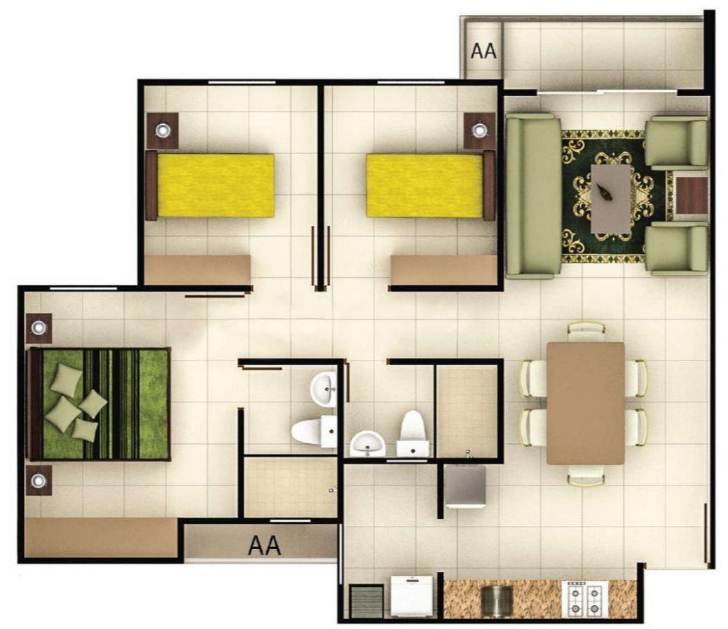 Planos casas 60 metros cuadrados casas pinterest for Jardin 60 metros cuadrados