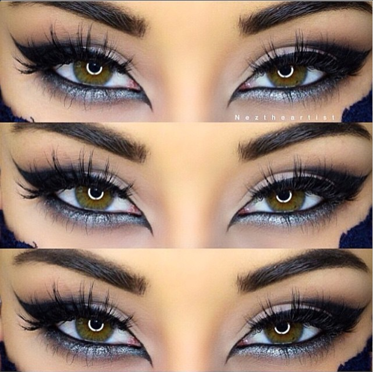 Beautiful cat eyes by @NezTheArtist with Flutter® Lashes ...