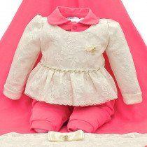 569f0b53b Saída de Maternidade Paraiso Cinto e Pingente Rosa Goiaba | Coleção ...