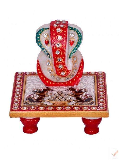 Shri Ganesha Handicraft Chowki Find This Pin And More On Home Decor Items