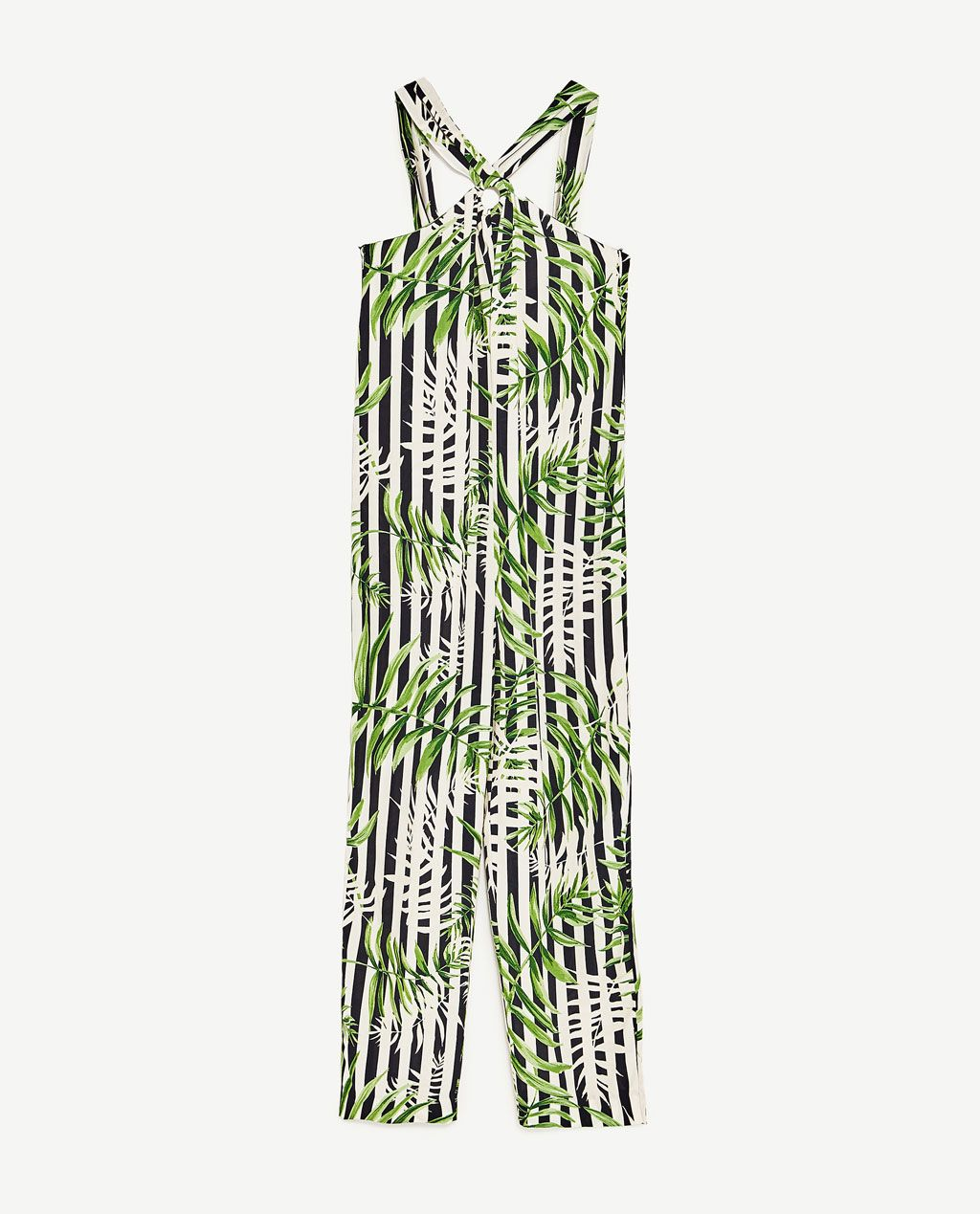 image 8 of leaves print jumpsuit from zara spring summer 2017