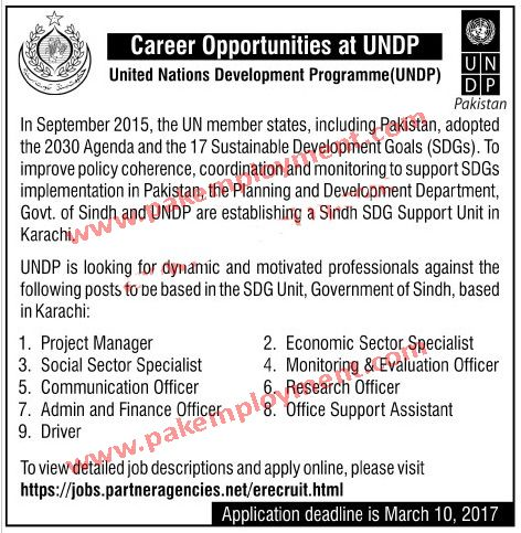 Pakistan Employment United Nations Development Programme (UNDP   Pca Job  Description