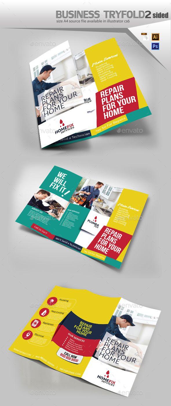 home repair tri fold template brochures print templates download