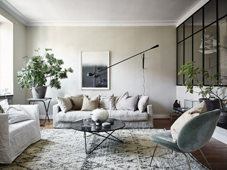 Skandinavisches Wohnzimmer der Idee, gemütlich und hell Halle - wohnzimmer modern gemutlich