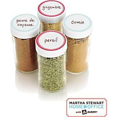 Martha Stewart, Home Office Kitchen Labels, Round