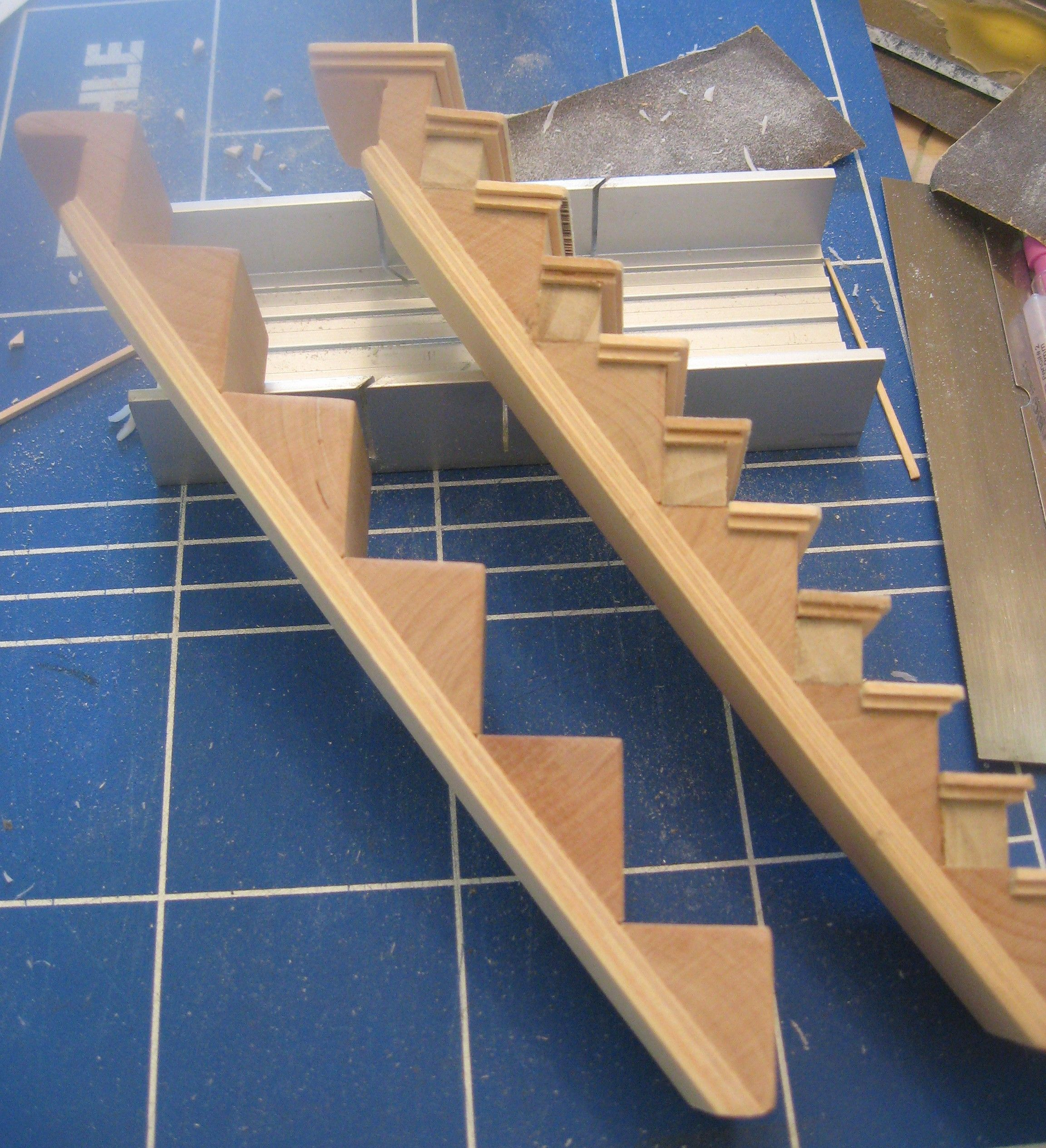 Reworking 1 12 Stairs To 1 24 Scale Dollhouse Staircase