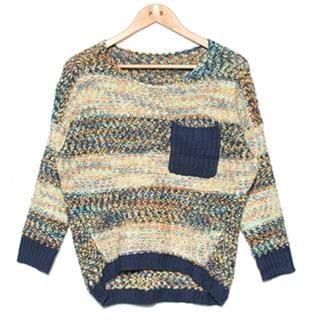 REDBALL  Drop-Shoulder Patterned Knit Top