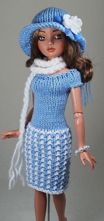 blue3   Crochet barbie clothes, Barbie clothes, Barbie ...