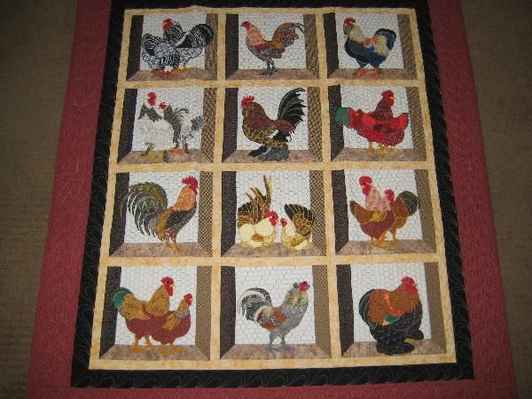 Free Chicken Applique Patterns HAD ONLY BEEN QUILTING FOR ABOUT 40 Stunning Chicken Quilt Pattern